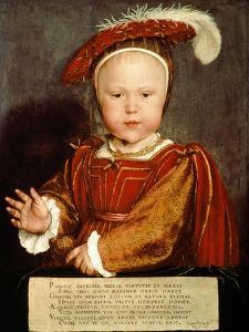 Portrait of Edward VI as a Child by Hans Holbein the Younger