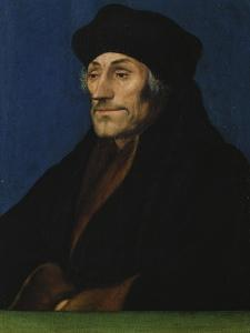 Portrait of Erasmus of Rotterdam by Hans Holbein the Younger