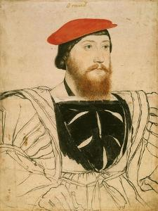 Portrait of James Butler, 9th Earl of Ormond, Ca 1537 by Hans Holbein the Younger
