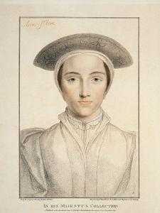 Portrait of Queen Anne of Cleves Published 1796 by Hans Holbein the Younger