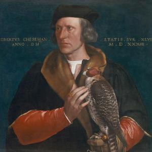 Portrait of Robert Cheseman Holding a Falcon, 1533 by Hans Holbein the Younger