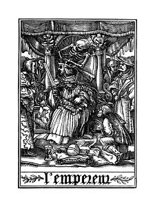 The Emperor Visited by Death, 1538 by Hans Holbein the Younger