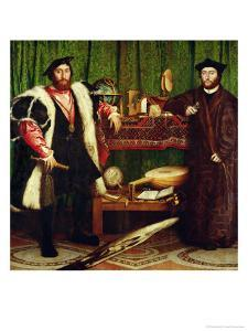 The French Ambassadors of King Henry II at the Court of the English King Henry VIII by Hans Holbein the Younger