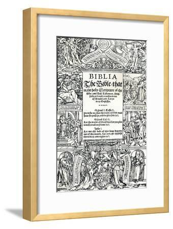 Title-Page of Coverdales English Bible, 1535