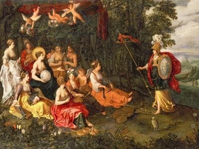 Minerva Visiting the Muses on Mount Helicon