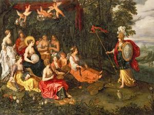 Minerva Visiting the Muses on Mount Helicon by Hans Jordaens III