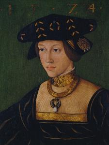 Queen Mary of Hungary, 1524 by Hans Krell