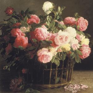 Basket of Roses (detail) by Hans Looscher