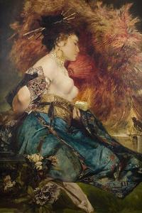 A Japanese Woman, C. 1870 by Hans Makart