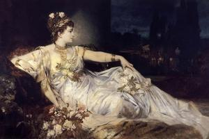 Charlotte Wolter as Messalina, 1875 by Hans Makart