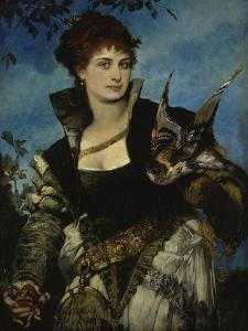 The Falconer, about 1880 by Hans Makart
