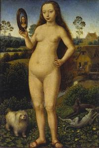 Allegory of Vanity, Left Panel of a Travel Altar by Hans Memling