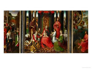 Altarpiece of St. John the Baptist and St. John the Evangelist, 1474-79 by Hans Memling