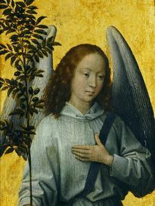 Angel Holding an Olive Branch, Symbol of Divine Peace by Hans Memling