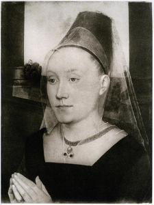Barbara Van Vlaenderbergh, Wife of Guillaume Moreel, C1480 by Hans Memling