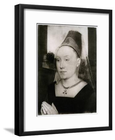 Barbara Van Vlaenderbergh, Wife of Guillaume Moreel, C1480