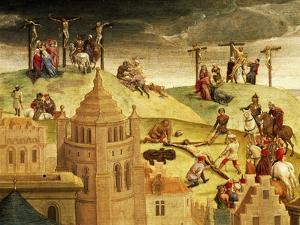 Calvary, Detail from Passion of Christ, 1471 by Hans Memling