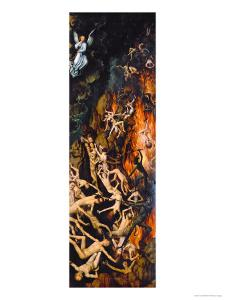 Casting the Damned into Hell (Right Wing) by Hans Memling