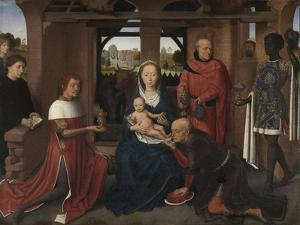 Central Panel of the Triptych of Jan Floreins, 1479 by Hans Memling