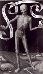 Death, Left Hand Panel from the Triptych of Earthly Vanity and Divine Salvation, c.1485 by Hans Memling