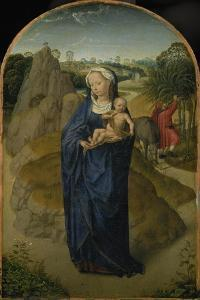 Die Jungfrau mit dem Kinde während der Flucht nach Ägypten by Hans Memling