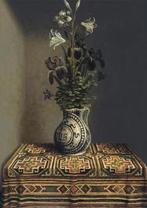 Flowers in a Jug, Ca 1485 by Hans Memling