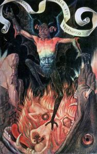 Hell, Right Hand Panel from the Triptych of Earthly Vanity and Divine Salvation, circa 1485 by Hans Memling