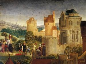 Jesus Entering Jerusalem, Detail from Passion of Christ, 1471 by Hans Memling