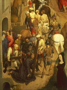 Jesus Falling and Is Helped by Simon of Cyrene, Detail from the Passion of Christ, 1471 by Hans Memling