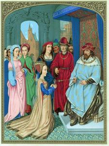 King Solomon Welcoming the Queen of Sheba by Hans Memling