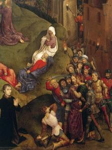 Kiss of Judas, Detail from Passion of Christ, 1471 by Hans Memling