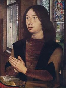 'Maarten van Nieuwenhove, from The Diptych of Maerten van Nieuwenhove', 1487 by Hans Memling