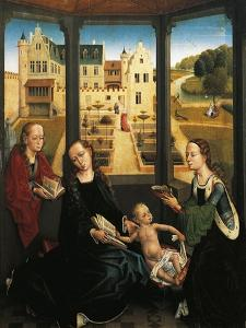 Madonna and Child in a Garden, 1494, Capilla Real, Granada, Spain by Hans Memling