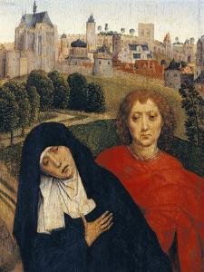 Our Lady of Sorrows, Detail from Crucifixion by Hans Memling