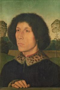 Portrait of a Man Against a Landscape, C.1470 (Panel) by Hans Memling