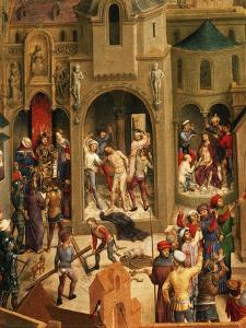 Scourging and Crowning with Thorns, Detail from Passion of Christ, 1471 by Hans Memling