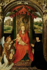 Small Triptych of St. John the Baptist, C. 1490 by Hans Memling
