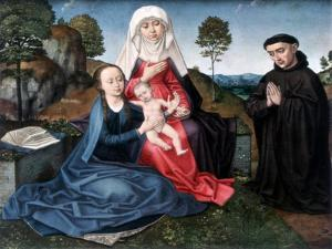 St Anne, the Virgin and Child and a Donor by Hans Memling