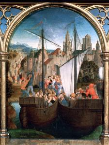 St Ursula Shrine, Arrival in Basle, 1489 by Hans Memling