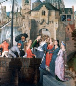 St Ursula Shrine, Arrival in Cologne, 1489 by Hans Memling