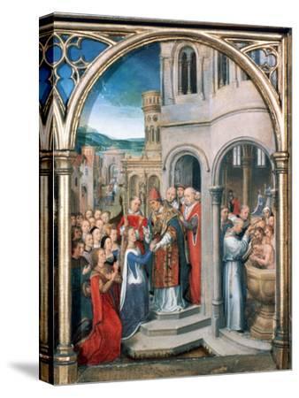 St Ursula Shrine, Arrival in Rome, 1489
