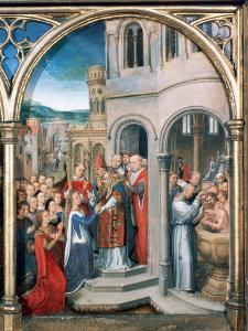 St Ursula Shrine, Arrival in Rome, 1489 by Hans Memling
