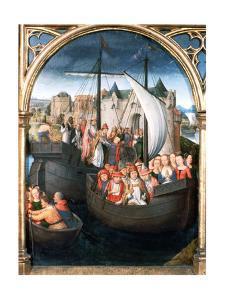 'St Ursula Shrine, Departure from Basle', 1489. Artist: Hans Memling by Hans Memling