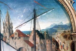'St Ursula Shrine, Departure from Basle', Detail, 1489. Artist: Hans Memling by Hans Memling
