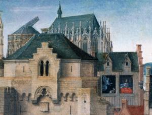 St Ursula Shrine, Departure from Cologne, Detail, 1489 by Hans Memling