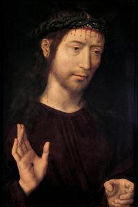 Suffering Christ. 1480-90 by Hans Memling
