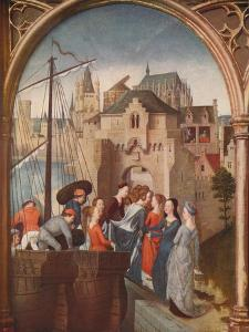 'The Arrival of St. Ursula at Cologne', 1489, (c1915) by Hans Memling