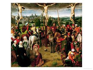 The Crucifixion, Central Panel of a Triptych by Hans Memling
