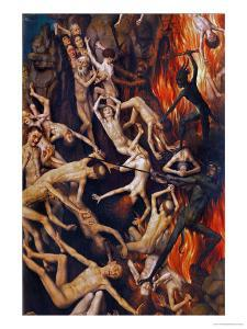 Triptych with the Last Judgement, Right Wing, Detail: Casting the Damned into Hell, 1467-71 by Hans Memling