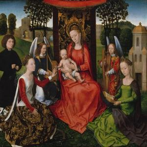 Virgin and Child with Saints Catherine of Alexandria and Barbara, 1480 by Hans Memling